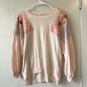 XS NWT Free People Feelin It Long Sleeve Patchwork